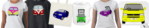 Ready? Order your campervan design on t-shirt, mug, bag or other products